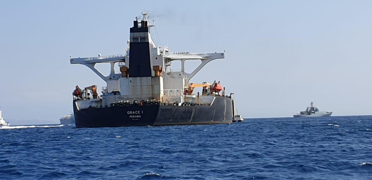 Crude oil tanker carrying millions of barrels seized off Gibraltar coast