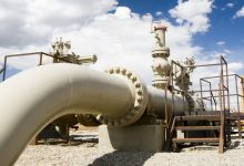 Pipeline of Natural Gas Is Seating Idle